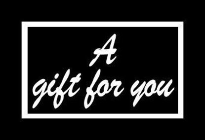 "GCI-04 Gift Card Holder (Black with White ""A Gift For You"")"