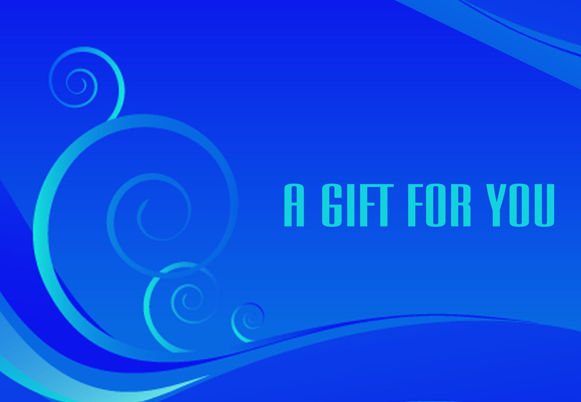 GCI-07 Gift Card Holder (Blue with swirls)