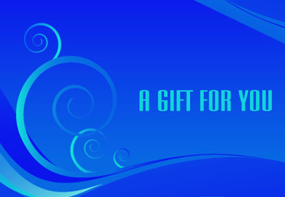 GCI-07 Gift Card Holder (Blue with swirls)