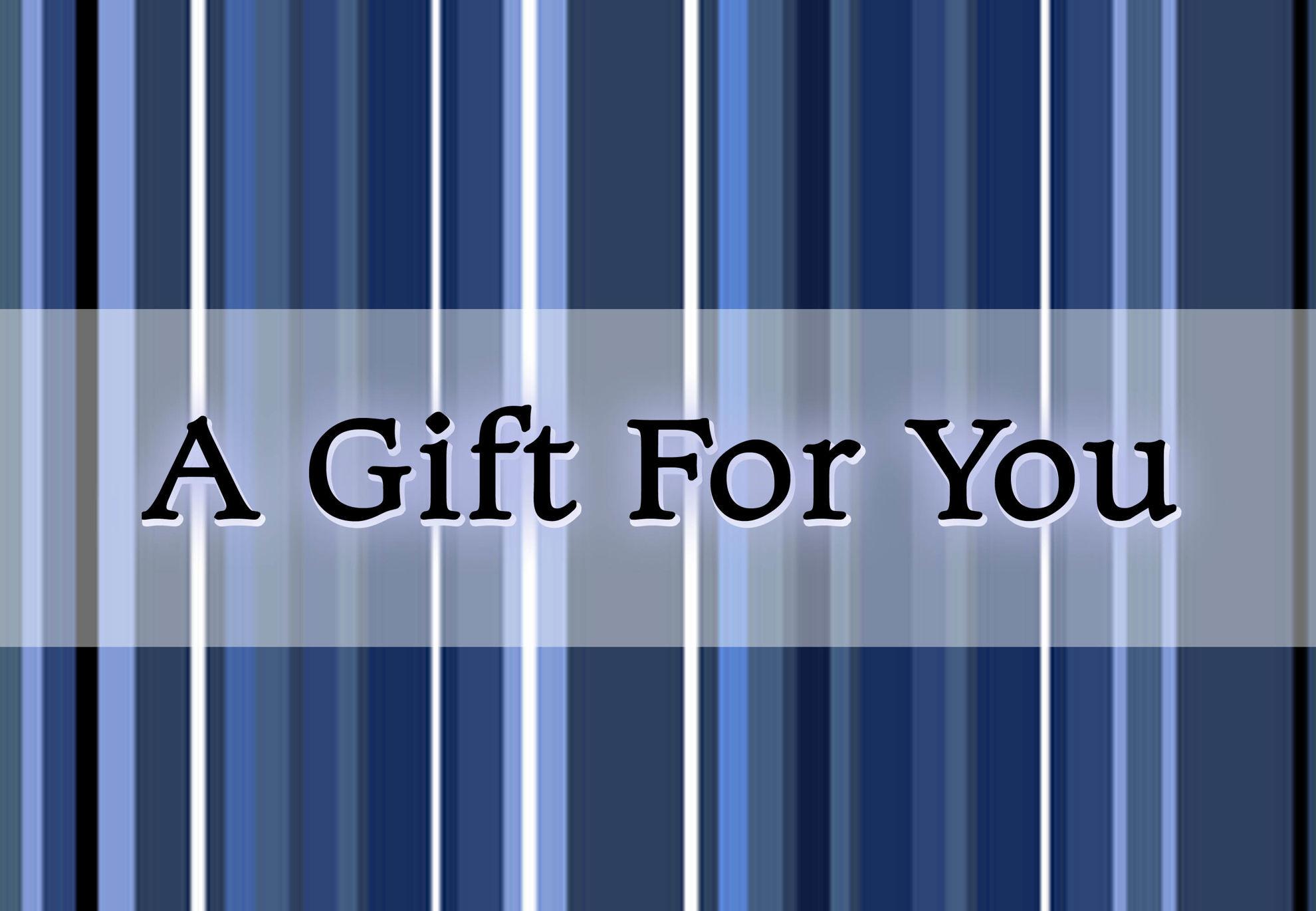 GCI-08 Gift Card Holder (Blue Stripes)