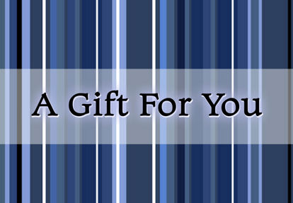 GCI-08 Gift Card Holder (Blue Stripes)