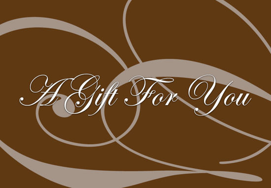 GCI-16 Gift Card Holder (Brown With Tan Swirls)