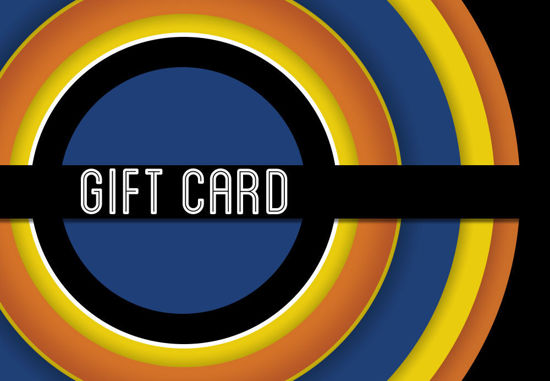 GCI-17 Gift Card Holder (Blue & Orange Circles)