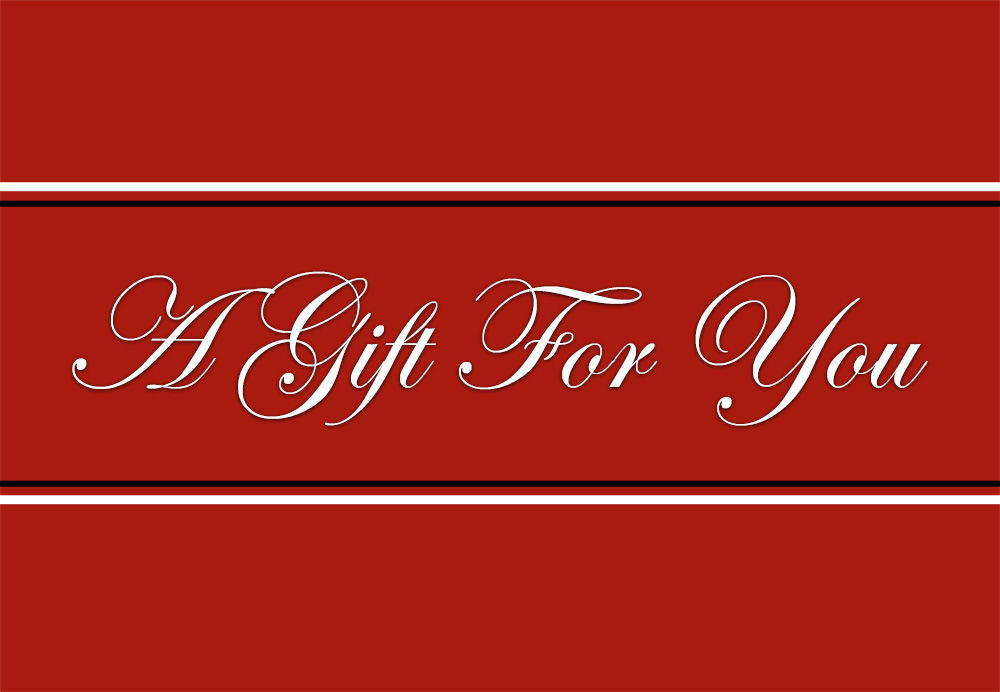 GCI-20 Gift Card Holder (Red With Black & White Stripe)