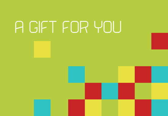 GCI-23 Gift Card Holder (Green with Boxes)