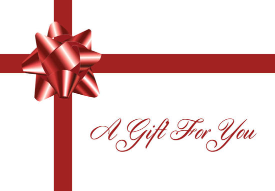 GCI-24 Gift Card Holder (Red Bow & Ribbon)