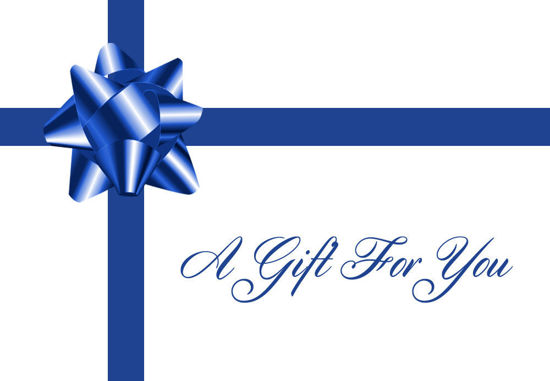 GCI-25 Gift Card Holder (Blue Bow With Ribbon)