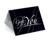 GCI-27 Gift Card Holder (Black With Type Offset)