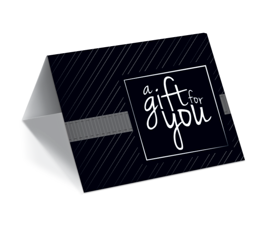 GCI-29 Gift Card Holder (Black With Modern Stripes)
