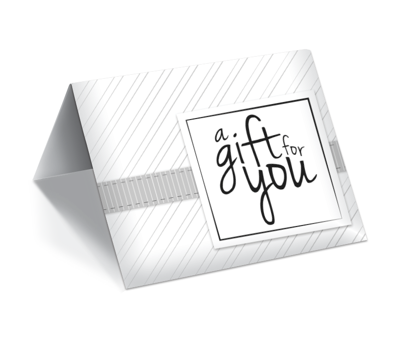 GCI-30 Gift Card Holder (White With Modern Stripes)