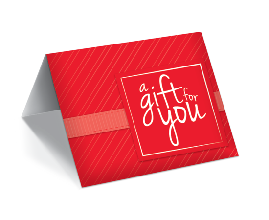 GCI-31 Gift Card Holder (Red With Modern Stripes)