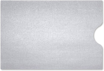 Gift Card Sleeve Metallic Silver