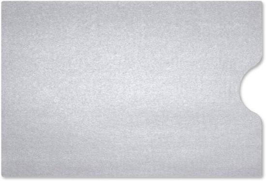 Gift Card Sleeve Metallic Silver