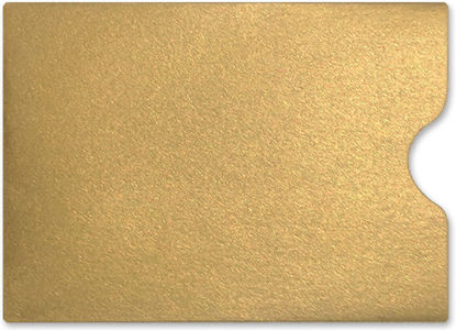Gift Card Sleeve Metallic Gold