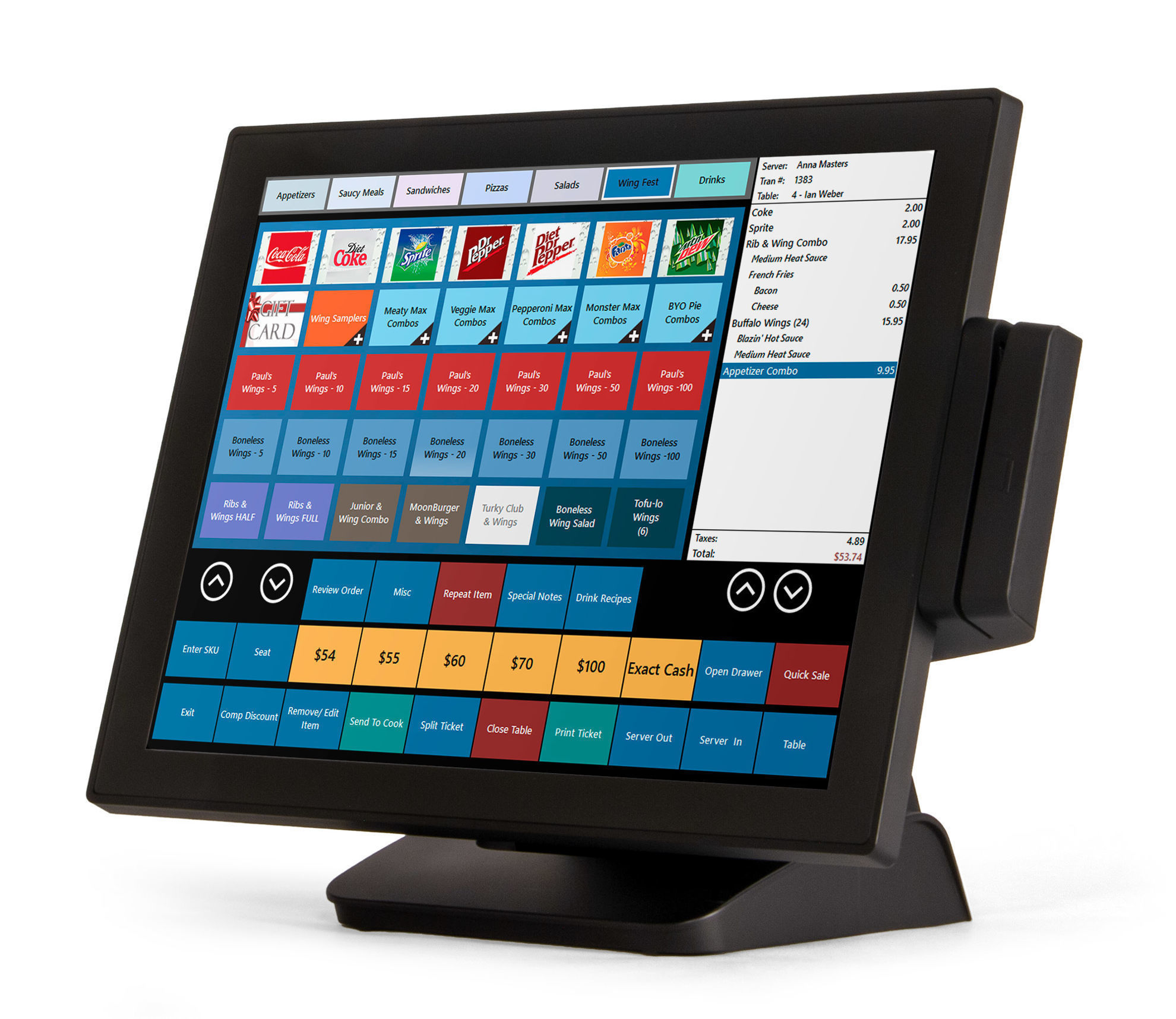 BPA Elite II Restaurant Point of Sale System